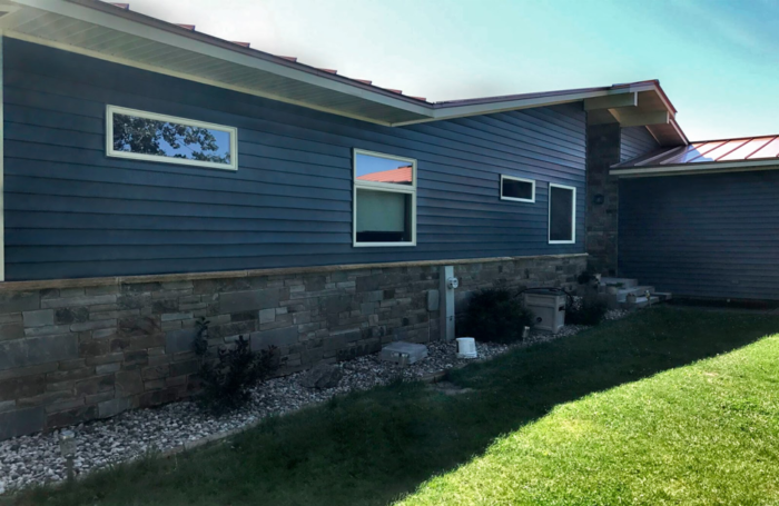 Blue Steel Siding Cladding Your Home In Pacific Blue