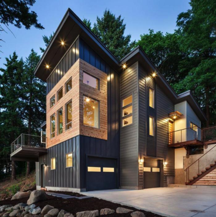 8 Modern Metal Siding Design Ideas For Homes Rollex