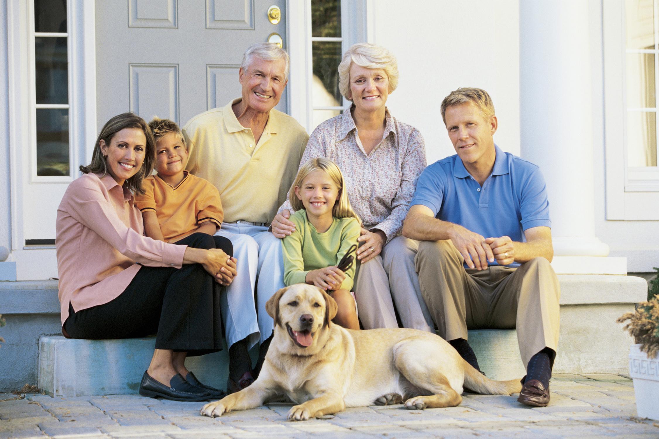 очень картинки семья собака дом свои